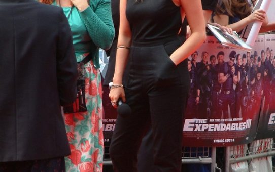 Laura Whitmore at the Expendables 3 World Premiere at the Odeon Leicester Square, London on 4 August 2014. Red Carpet Arrival Photos and Candids