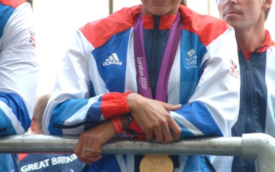 Jessica Ennis at the London 2012 Olympics Victory Parade in Central London