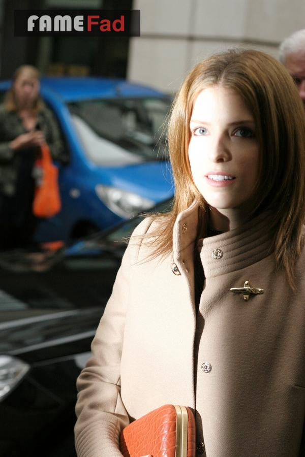 Anna Kendrick arrives at the LFW SS14 Day 2 Julien Macdonald Event
