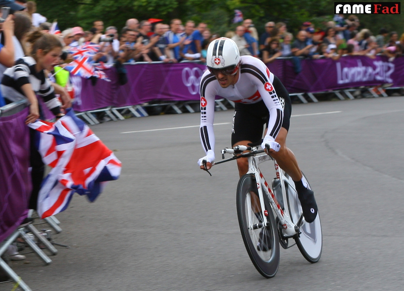 Fabian Cancellara of Switzerland at the London 2012 Road Time Trial