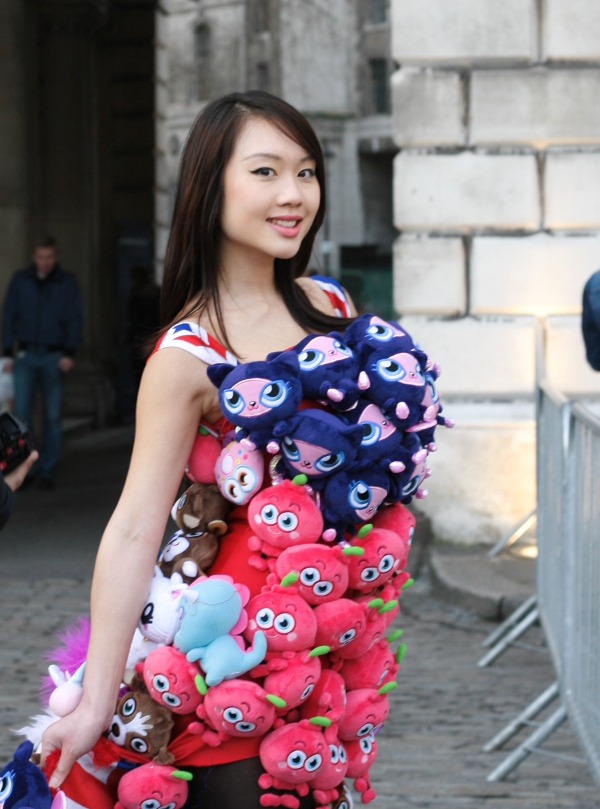 Oriental novelty dress fashionista LFW